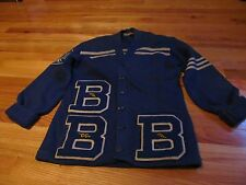VTG 1956 BLOOM TOWNSHIP HIGH SCHOOL (IL) LETTERMANS SWEATER W/LETTERS PATCH
