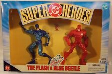 DC Comics Superheroes - The Flash & Blue Beetle With The Atom By Hasbro (MISB)