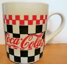 """COCA COLA  CHECKERBOARD DINNERWARE CUP BY GIBSON   4 1/2"""" TALL,  14 OZ"""