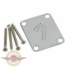 Brand New Fender 4-Bolt '70s Vintage-Style F Logo Neck Plate Replacment
