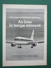 5/77 PUB COMPAGNIE AERIENNE AIR INTER AIRLINE AIRBUS ORIGINAL FRENCH ADVERT