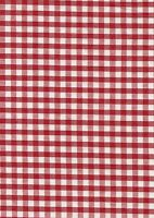"""Red & White 1/4"""" Gingham check fabric/material - FREE UK P&P"""