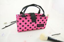 JACKI DESIGN Polka Dot HOT PINK & BLACK 2 in 1 Cosmetic Organizer Bag - NEW!