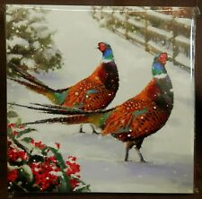Pack of 10 Charity Christmas Cards: Pheasants in Snow: CP Cumbria/Cerebral Palsy