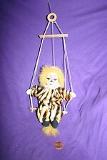 Vintage clown cat trapeze ornament circus