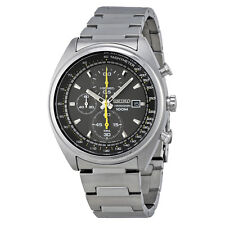 Seiko Men's SNDF85 Chronograph Quartz Grey Dial Stainless Steel Watch