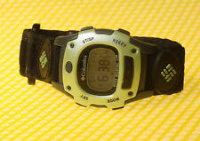 Women's COLUMBIA CL-5042 Digital Sport Watch Velcro Band 100M * VERY GOOD USED *