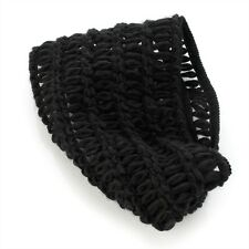 Black Wide Wool Knitted Crochet Elastic Head Wrap Hair Band Headband Accessories