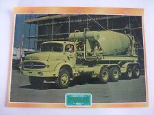 CARTE FICHE CAMION TRAVAUX PUBLICS MERCEDES BENZ L 2220 1965