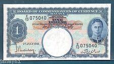 ~ Malaisie un dollar billet - 1941-P11-kgvi ~