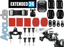 Montage Set Mount System Halterung EXTENDED L 24 Elemente für GoPro Hero3 Hero2