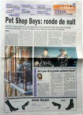PET SHOP BOYS =  COUPURE DE PRESSE SUISSE 1999 !!! // CLIPPING