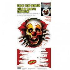 Halloween Creepy Carnevil Clown Vinyl Toilet Seat Grabber Decoration