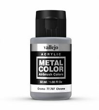 VALLEJO METAL COLORS - AIRBRUSH PAINT - CHROME 32ML - 77.707