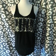 Victoria's Secret PINK Bling Leopard Print Sequin Tank Top Shirt Medium RARE NWT