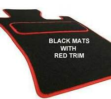 BMW E30 (3 SERIES) (1983-1992) Tailored Car Floor Mats Black with Red trim