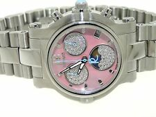 RENATO BEAUTY LIMITED DIAMOND MOON PHASE TECH CHRONOGRAPH PINK DIAL WRISTWATCH