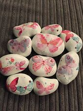20x Garden Rock Pink Pebble Christmas Shabby Chic Art Gift Decoupage