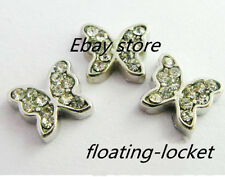 10pcs butterfly Floating Charms For Glass Living Memory Locket FC0204