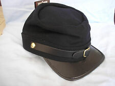 U. S, CIVIL WAR UNION NORTH ARMY NAVY BLUE WOOL KEPI HAT CAP ADJUSTABLE SIZE