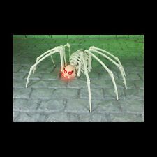 PREMIER HALLOWEEN SKELETON SPIDER W/RED LIGHT UP EYES 1M WIDE. POSABLE LEGS.