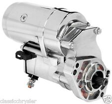 NEW HEAVY DUTY Harley Davidson BIG TWIN 2.4kw Starter Motor - CHROME