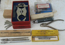 Lot  Vintage Watchmaker Jeweler Watch Repair Tools Vigor, Presto,levin Helitrim