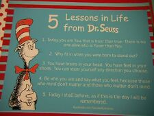 Dr. Seuss 5 Lessons in Life Quotes Premade 12x12 Scrapbook Pages