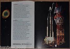 1960 GENERAL DYNAMICS 2-page advertisement, Atlas Mercury rocket, NASA Space