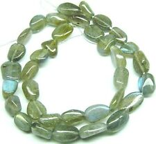"15.5"" NATURAL FLASHY Labradorite Nugget ~35 Beads 10x12mm K6112"