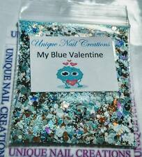 Limited Edition Glitter Mix~My Blue Valentine* Comes With Alloy~ Nail Art