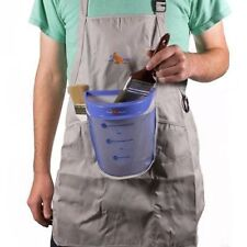 Pouch Painter ~ Apron And Bucket For Hands Free, Spill Resistant Painting