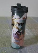Starbucks Siren Travel Tumbler Abstract Face 16 oz. 2012 BPA Free