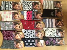 15 pairs luxury ladies womens coloured design socks cotton blend size 4-7 HKLM