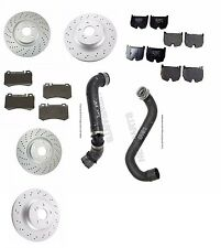 Mercedes Benz CLS55 AMG E55 AMG Set of 2 Front + 2 Rear Disc Brake Rotor + Pads