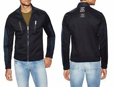 NWT Diesel J-MADARA-2 Mens MOTO Bomber NYLON Blue Jacket M MEDIUM $298