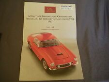 315B Dépliant CMC Exclusive Modelle 1/18 Ferrari 250 GT Berlinetta SWB 4 Pages