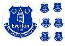 EVERTON 16cm cake topper with 6 5cm cupcake toppers on wafer paper