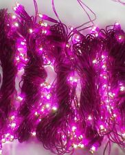 Set of 10 Rice lights bulbs decoration light for diwali christmas Purple-200+ Ft