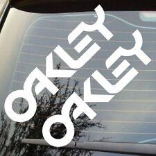 """2 X 6"""" Nuevo Gafas de sol Oakley logotipo de texto patrocinador Coche Insignia Pegatina Calcomanía"""