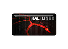 "Kali Linux 1.5""x0.75"" Chrome Domed Case Badge / Sticker Logo"