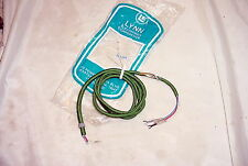 "Vintage NOS Green Cloth Covered 3 Wire Cord 54"" long Telephone Headset Speaker"