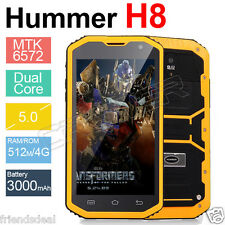 YL 5.0'' 3G HUMMER H8 Dual Smartphone Waterproog Rugged Tough IP68 8MP 1.3GHz UK