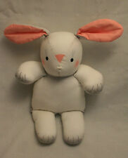 "Cute White & Gray 13"" Cloth Bunny Doll / Easter / Spring"