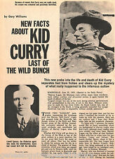 Kid Curry of the Wild Bunch w History,Legend & New Facts