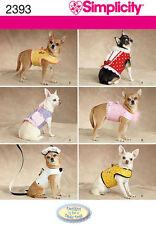 NIP S 2393 dog pet clothes jacket beret leash pattern UNCUT XXS-M