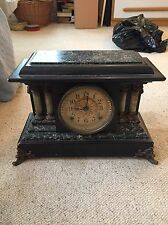 Antique Seth Thomas Adamantine Classical 4 Column Mantle Clock