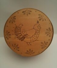 Vintage Dufeck Denmark Wis Wood Cheese Box - Advertising Pigeon