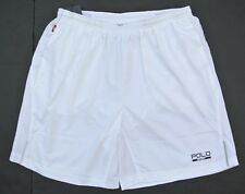 NEW POLO SPORT RALPH LAUREN PERFORMANCE LINED 100% POLYESTER WHITE SHORTS M