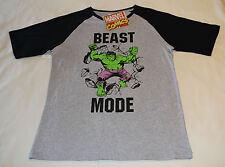 Marvel Comics The Hulk Mens Grey Printed Short Sleeve T Shirt Size S New